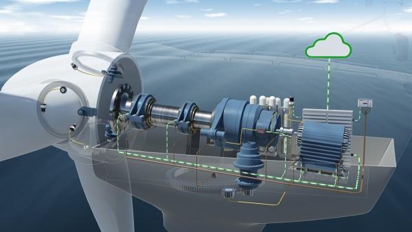 Vindkraftverkets tillståndsövervakningssystem innefattar sju accelerometrar.