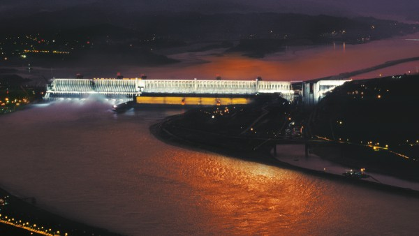 Konventionell vattenkraft: Three Gorges Dam i Kina