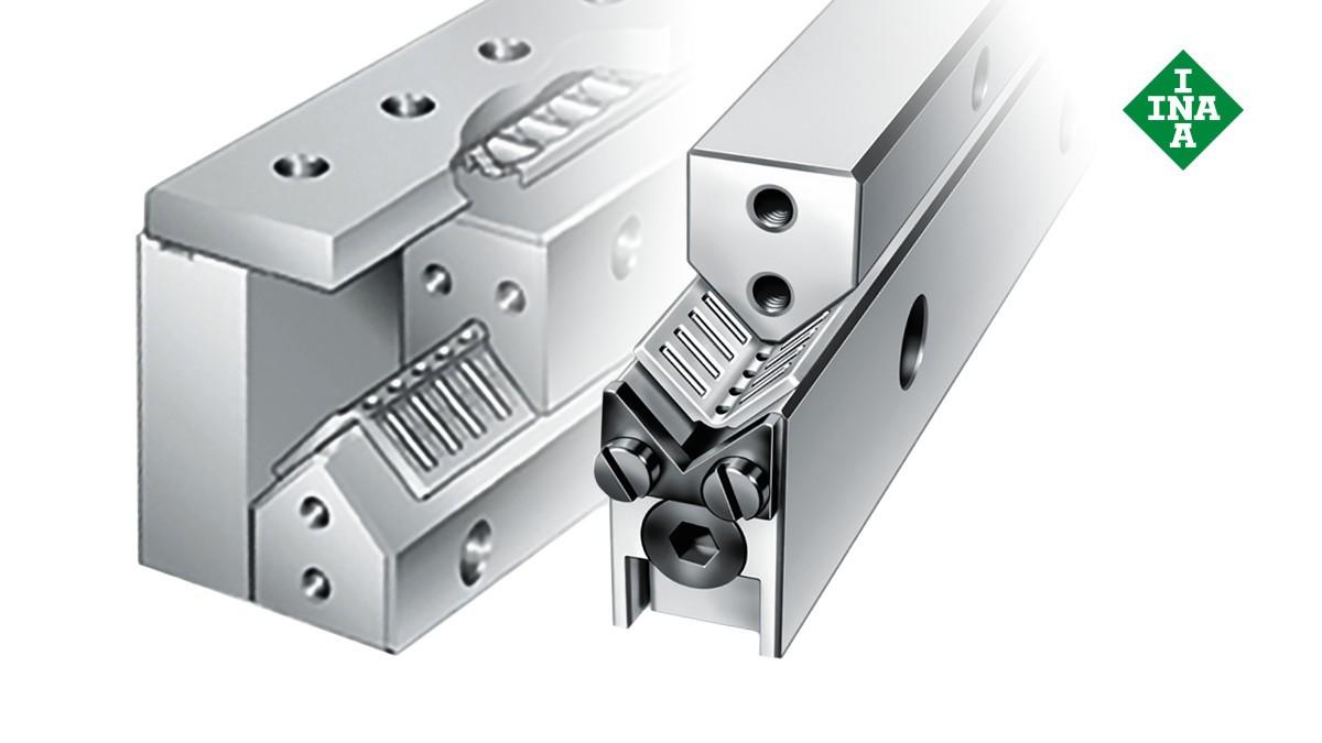 Schaeffler linjärstyrningar  ML-/V-styrskenor med inställningskil och vinklat band