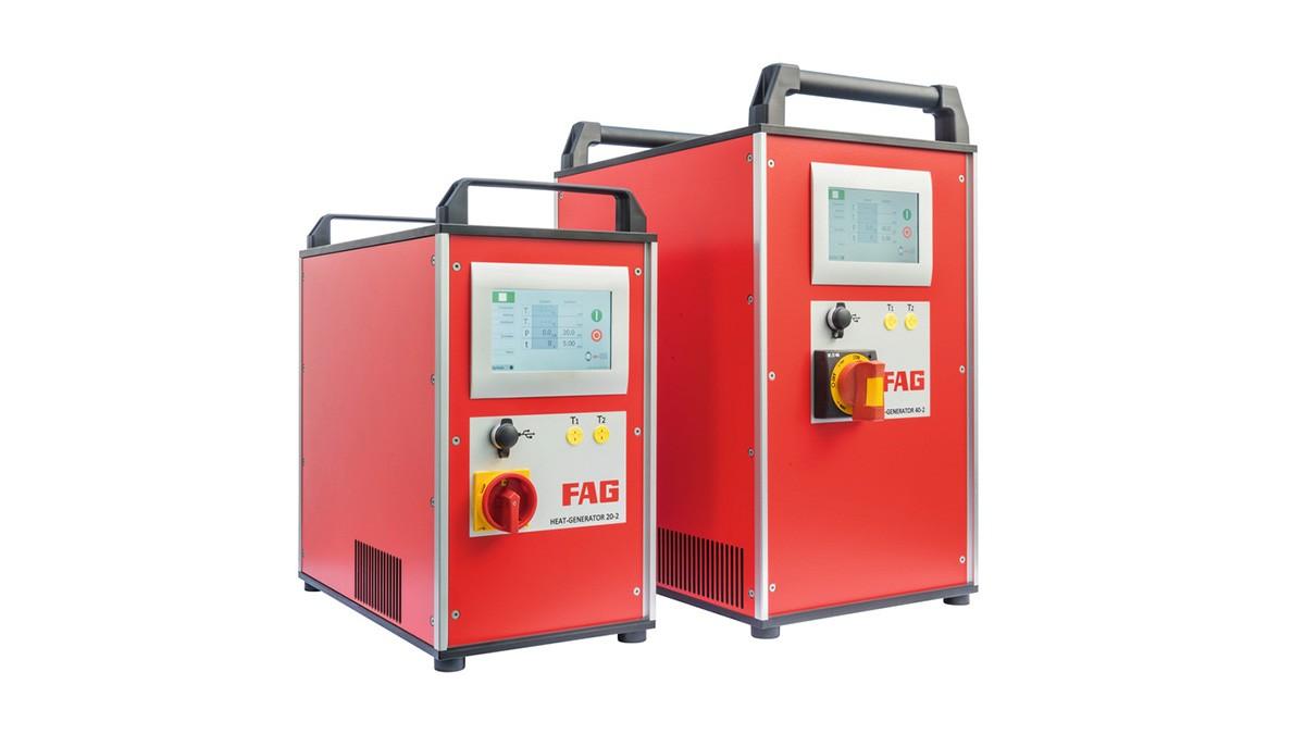 Schaeffler underhållsprodukter:  Induktionsapparater med mellanfrekvensteknik