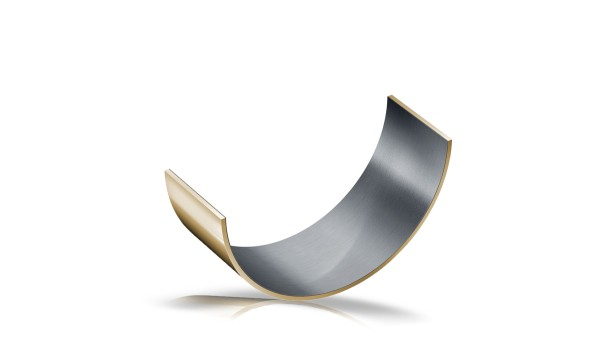 Glidlager med glidskikt i metall-polymerkomposit, halvskålar