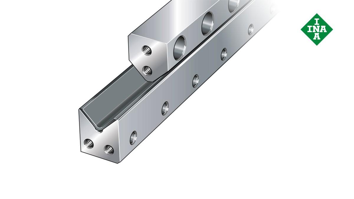 Schaeffler linjärstyrningar  M-styrskenor med glidbeläggning och V-skenor
