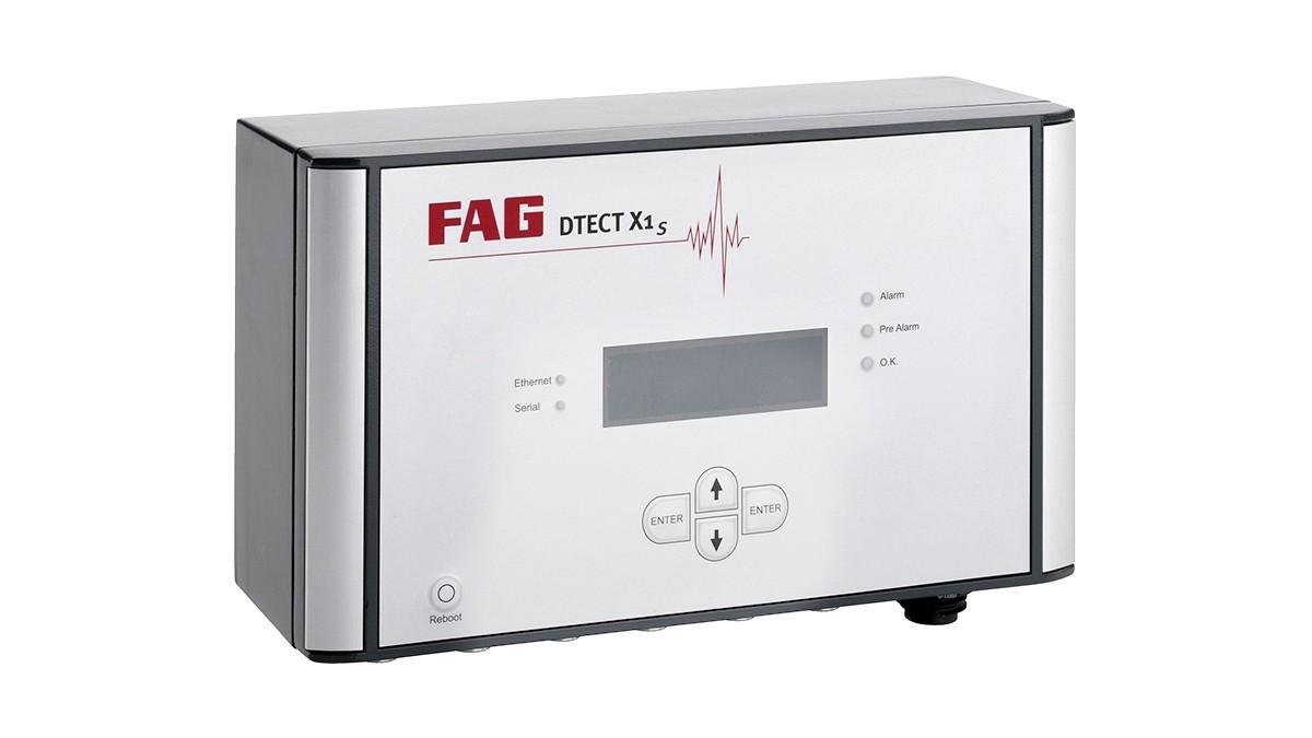 FAG DTECT X1 s är ett flexibelt online-system för övervakning av roterande komponenter och element i maskiner och anläggningar.